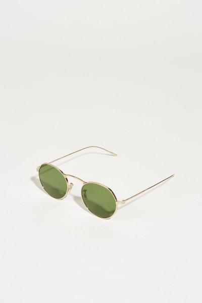 Runde Sonnenbrille Silber/Grün
