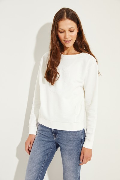 Moncler Cotton sweatshirt with pearl details White