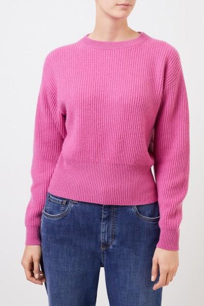 Brunello Cucinelli Gerippter Cashmere Pullover Pink