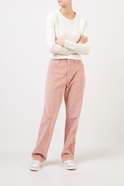 Rag&Bone Corduroy trousers with wide leg Rosé
