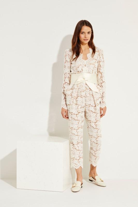 8f80abdaa244 Lace jumpsuit with belt Créme White
