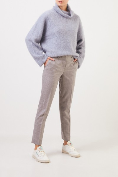 Fabiana Filippi Wool trousers with glencheck Light Grey