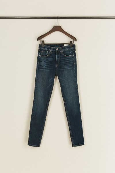 High Rise Skinny Jeans Blau