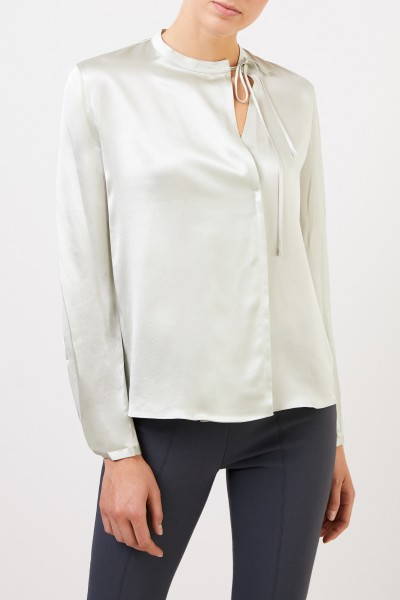 Vince Silk blouse with binding detail Light green