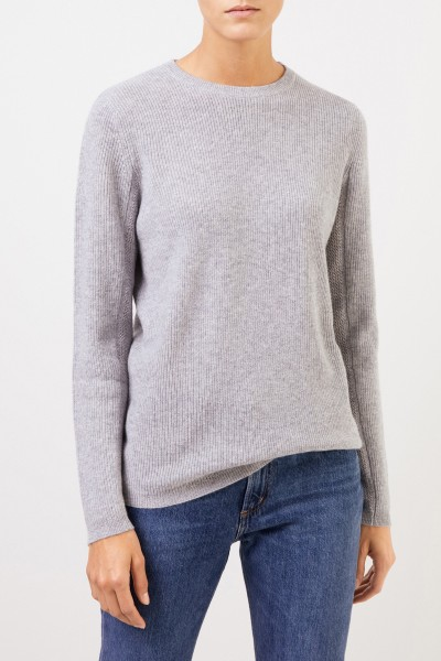 Uzwei Cashmere pullover with mesh knit Grey