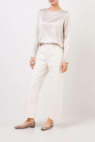 Silk-Shirt Beige