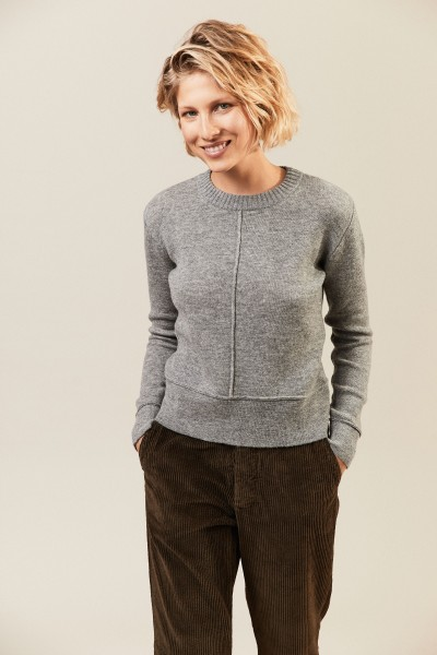 Woll- Cashmerepullover Grau