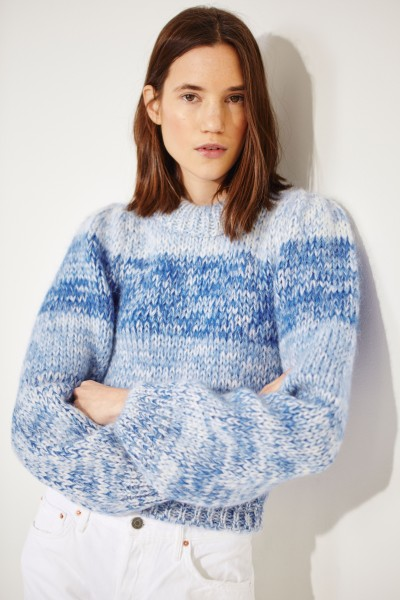 Mohair-wool sweater Blue