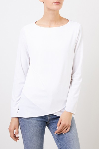 Kimmich Trikot Longsleeve with asymmetric hems White