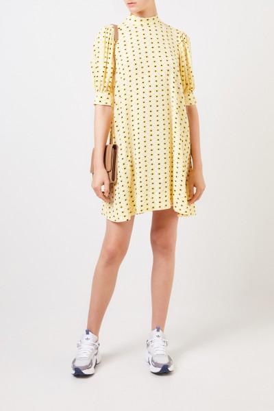 Kurzes Kleid mit floralem Print Multi