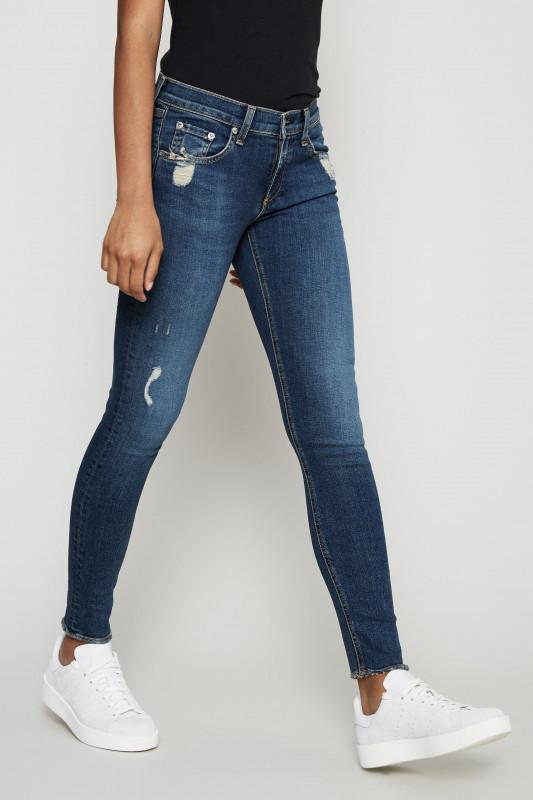 Skinny Jeans 'Shiny' Dunkelblau
