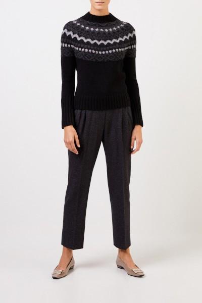 Iris von Arnim Hand-woven cashmere pullover 'Herti' Black