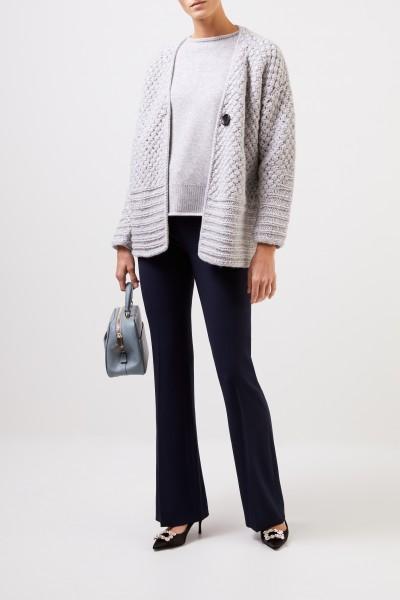 Iris von Arnim Short cashmere coat 'Hedy' Light Grey