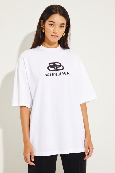 Oversize Shirt mit Logo Weiß