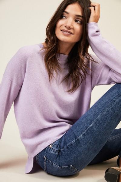 Oversize Cashmere-Pullover 'Coline' Flieder