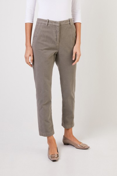 Aspesi Cotton trousers with soft finish Taupe