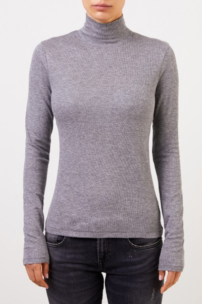 Rag&Bone Cotton Pullover with Turtleneck Grey