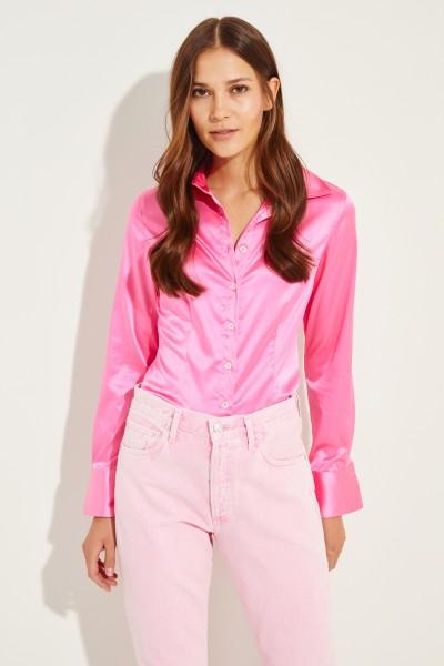 Bluse 'Jonies' mit leichtem Glanz Pink