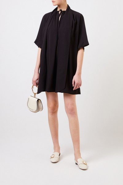 Chloé Short dress with tie-neck detail Black