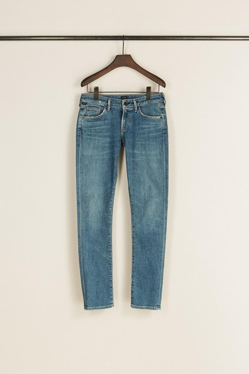 Low Rise Skinny Jeans 'Racer' Blau