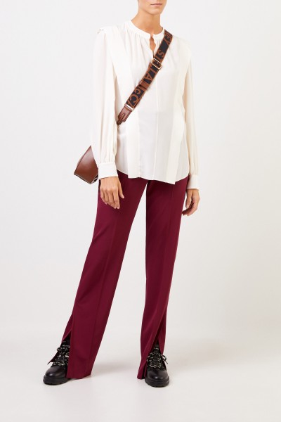 Stella McCartney Silk blouse with slit White