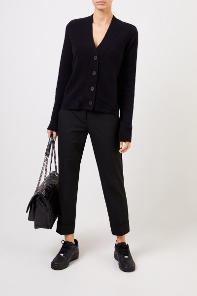 Trousers 'Krystal' with hem cover black