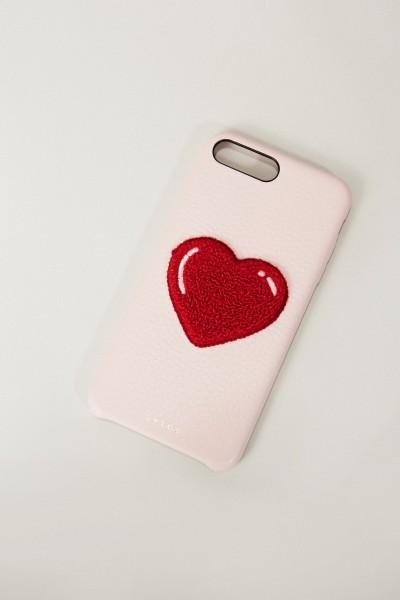 Iphone Case 7/8+ mit Herzapplikation Rosé