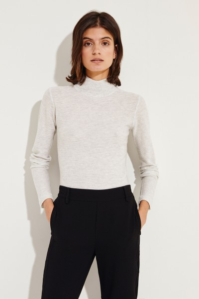 Woll-Cashmere-Pullover Grau