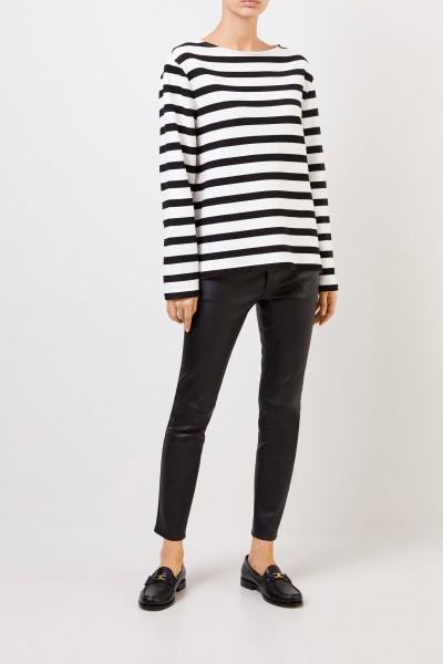 Saint Laurent Classic leather pants Black