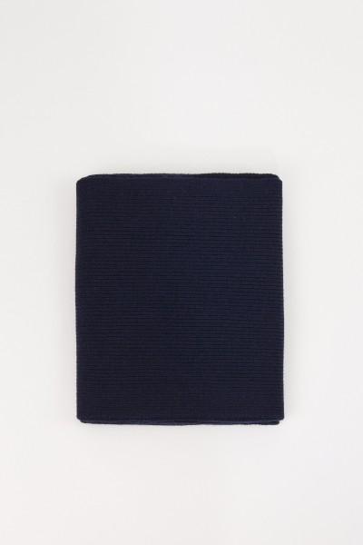 Uzwei Wool cashmere scarf Navy Blue