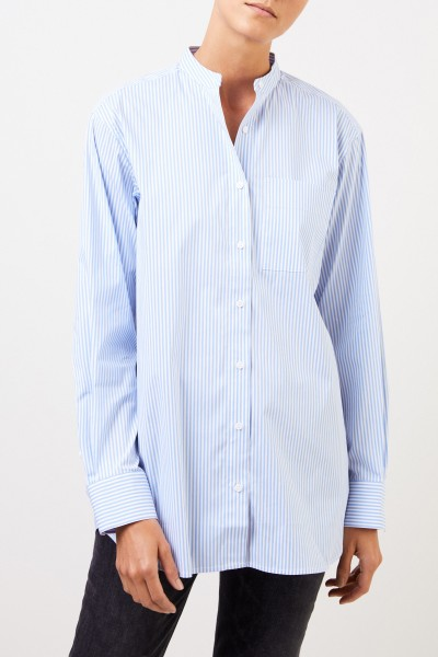 Uzwei Striped cotton blouse Light Blue/White