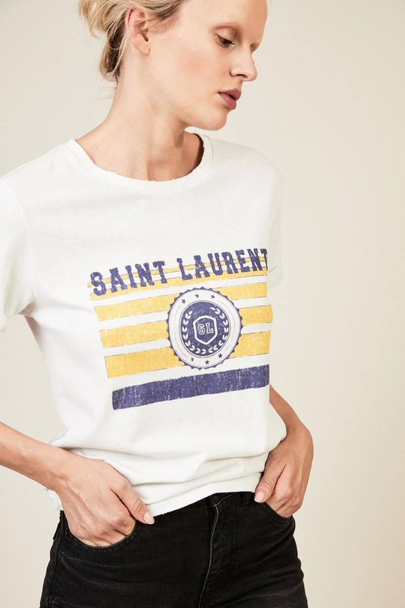T-Shirt mit Logo-Aufdruck Weiß