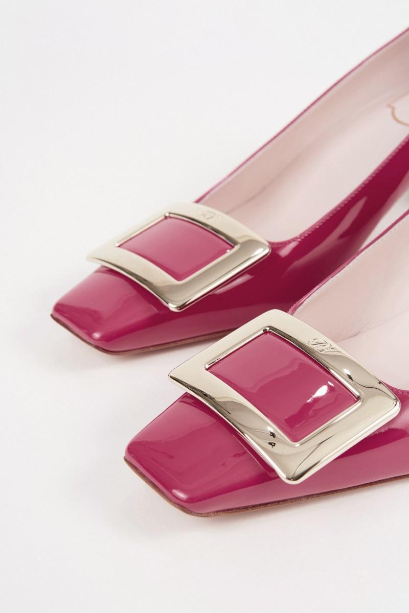 Roger Vivier Lackleder-Pump 'Decollette Belle Vivier' Pink