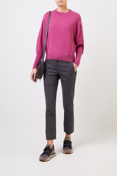 Cashmere sweater with pearl detail Pink