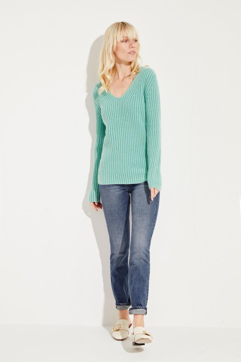Cashmere-Pullover 'Madita' Grün