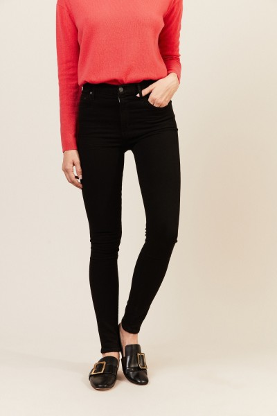High Rise Skinny 'Rocket' Schwarz