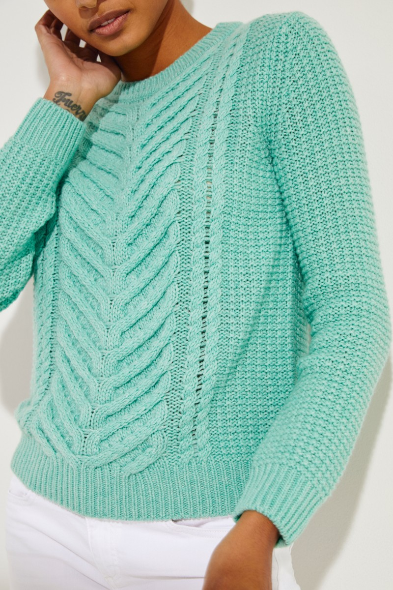 Cashmere-Pullover 'Beverly' Minze