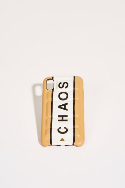 IPhone Case X mit Logo Beige/Weiß