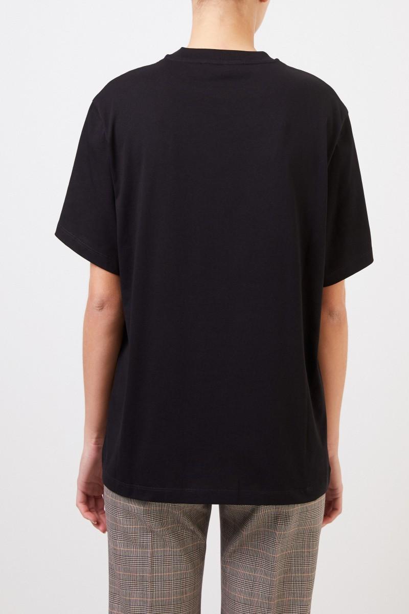 Stella McCartney T-Shirt with Logo-Print Black