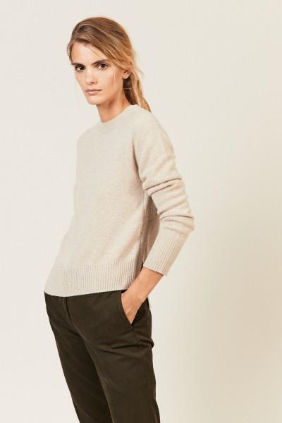 Cashmere-Pullover mit asymmetrischem Saum Beige