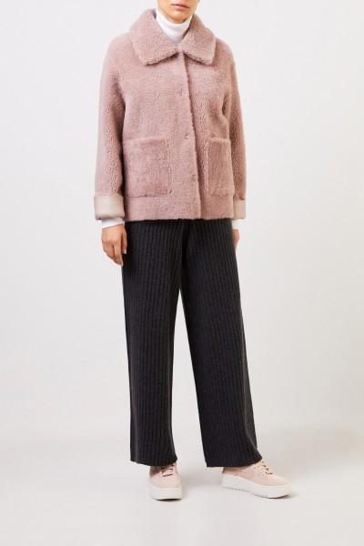 Benedeta Novi Reversible lambskin jacket 'Gaia' Rosé