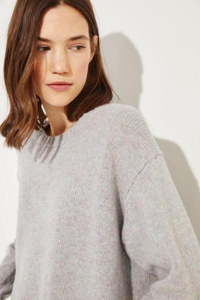 Woll-Pullover Violett/Multi