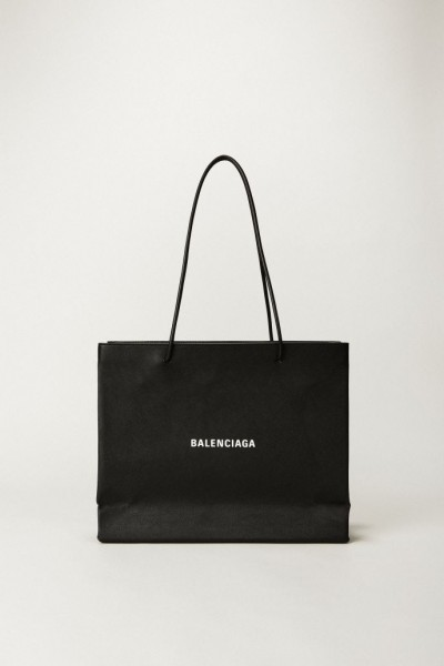 Handtasche 'Shopper East West' Schwarz