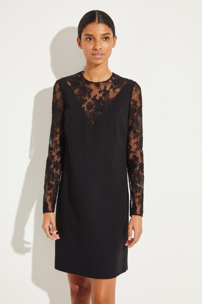 Dress with lace details Black