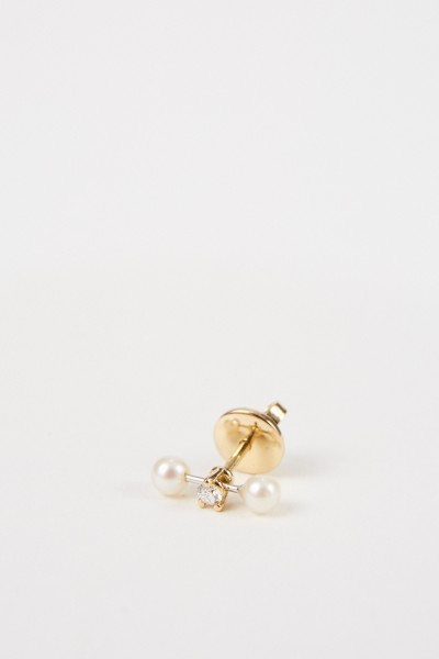 Delfina Delettrez Earring 'Two in one' Gold/Pealrs