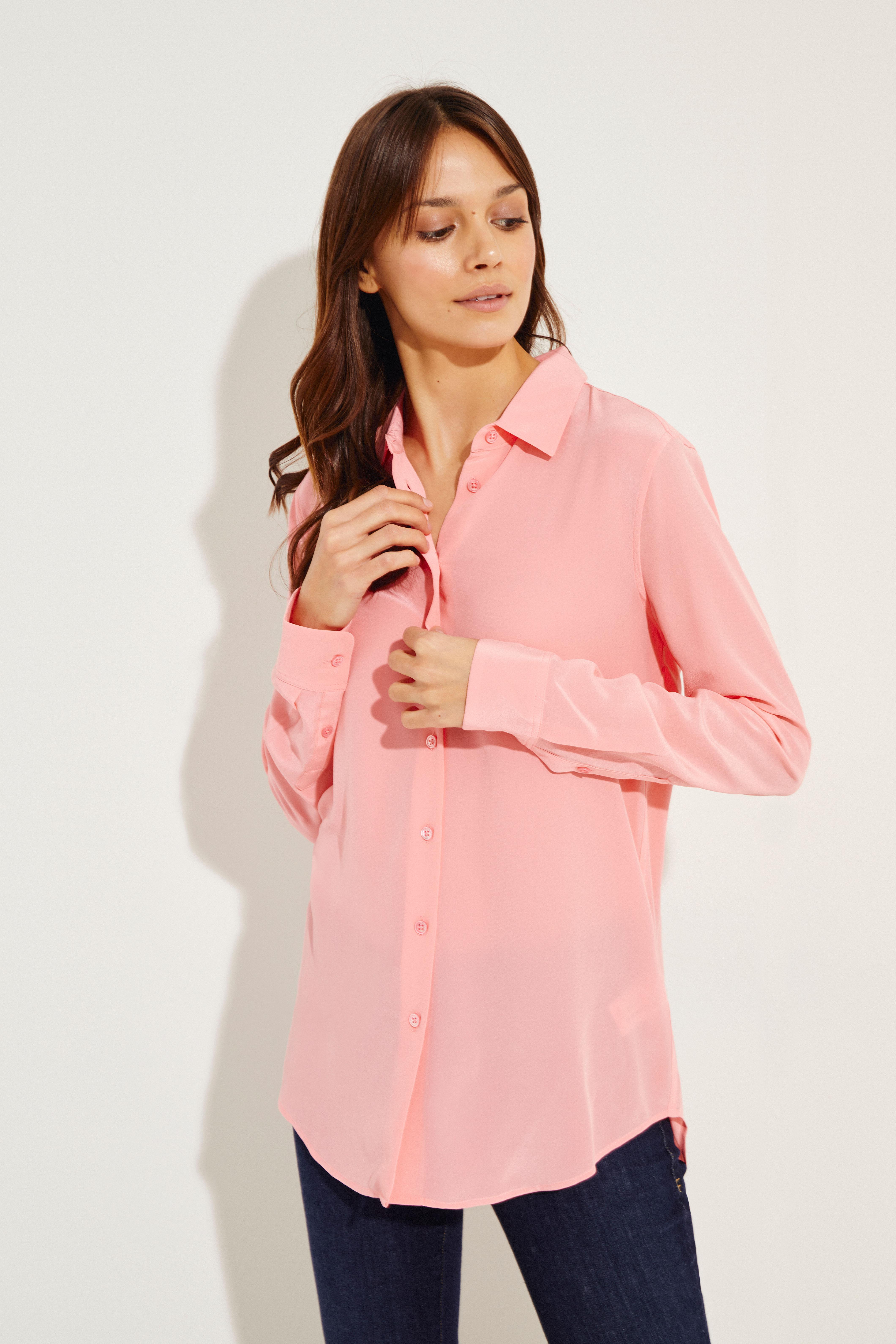 371e04a0e22e5 Silk blouse  Essential  Pink