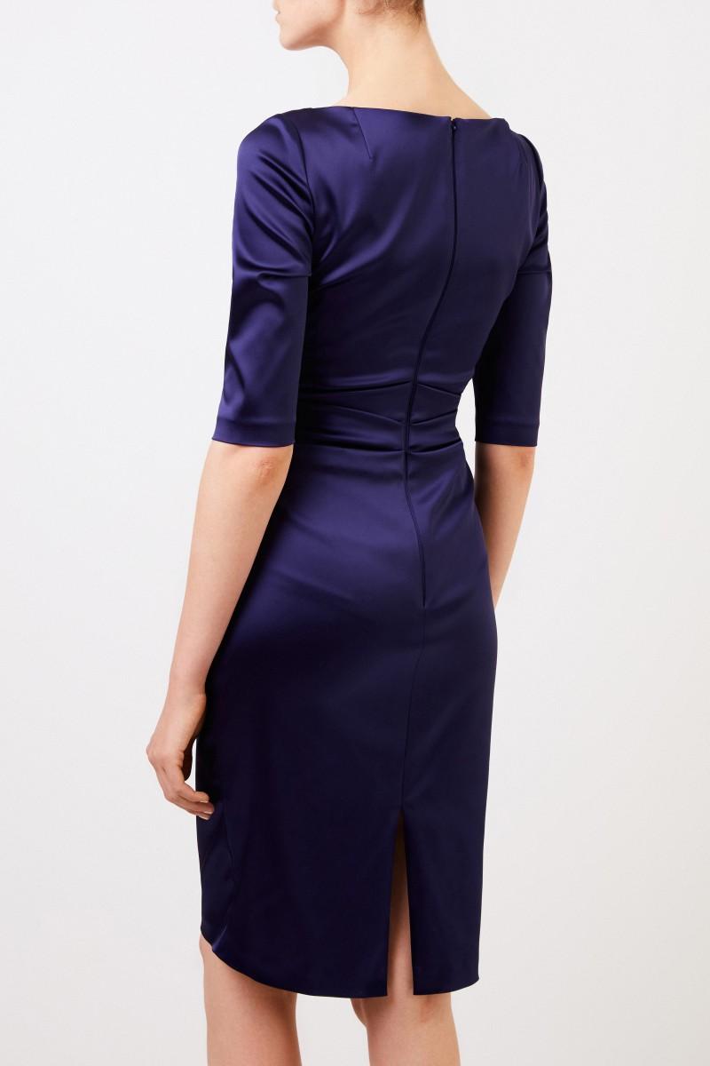 Talbot Runhof Abendkleid mit Raffung 'Komoe3' Violett