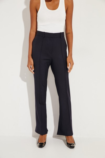 Wool pants with slits navy Blue
