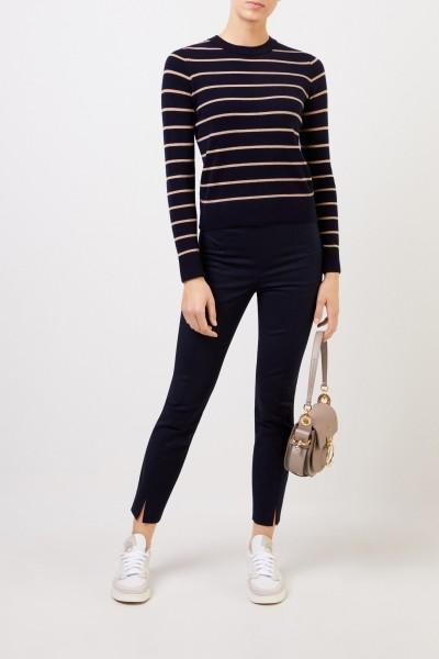 Striped Cashmere Sweater Navy/Beige