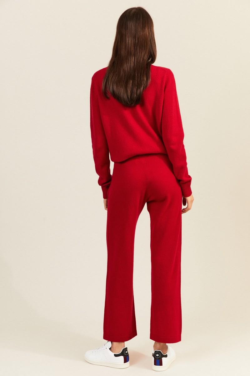 Cashmere-Jogginghose Rot